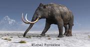 Mammouth, préhistoire, paléontologie, proboscidien, Michel Fontaine, peinture numérique